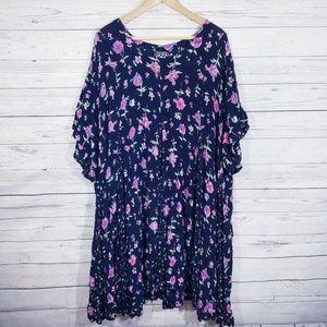Plus Size floral vintage dress!